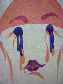 See, Zeichnung, Gesicht, Durchfahrt