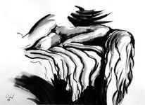 Akt, Abstrakt, Aquarellmalerei, Malerei