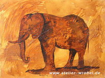Jagd, Caveart, Elefant, Prähistorisch