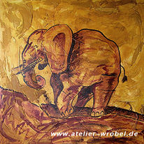 Malerei, Caveart, Prähistorisch, Elefant