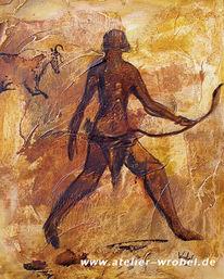 Prähistorisch, Jagd, Caveart, Malerei