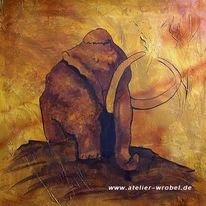 Caveart, Jagd, Mammut, Prähistorisch
