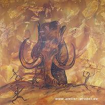 Malerei, Prähistorisch, Caveart, Jagd