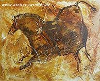 Prähistorisch, Malerei, Jagd, Caveart