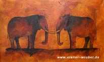 Höhlenmalerei, Caveart, Jagd, Elefant