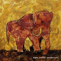 Jagd, Prähistorisch, Elefant, Malerei