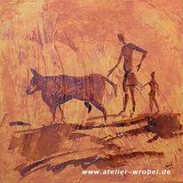 Höhlenmalerei, Malerei, Jagd, Caveart