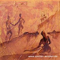 Jagd, Caveart, Prähistorisch, Höhlenmalerei