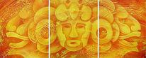 Inka, Malerei, Acrylmalerei, Kopf