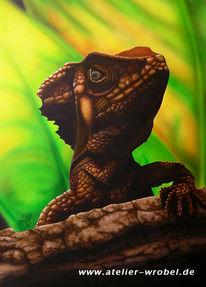 Acrylmalerei, Airbrush, Tiere, Reptil