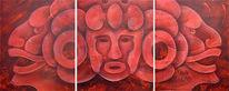 Acrylmalerei, Inka, Kopf, Malerei