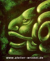 Inka, Acrylmalerei, Kopf, Malerei