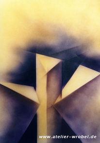 Kubistisch, Kubismus, Airbrush, Malerei