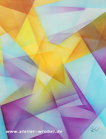 Kubismus, Airbrush, Malerei, Abstrakt
