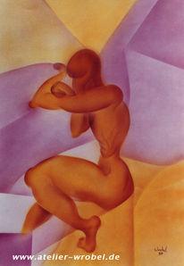 Abstrakt, Kubismus, Airbrush, Malerei