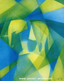 Kubismus, Malerei, Abstrakt, Airbrush