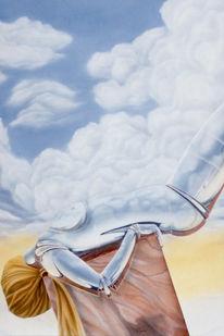 Acrylmalerei, Malerei, Chrom, Surreal