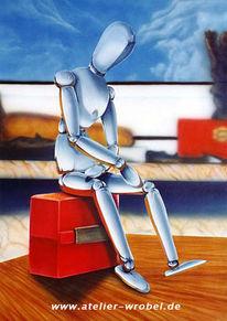 Realismus, Acrylmalerei, Airbrush, Chrom