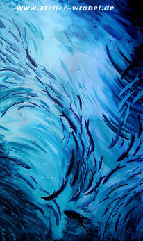 Malerei, Fische, Acrylmalerei, Tiere