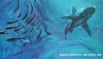 Fische, Malerei, Tiere, Acrylmalerei