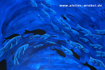 Fisch, Malerei, Acrylmalerei, Tiere