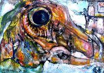 Zweifüßler, Kopf, Malerei, Wurm