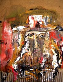 Karton, Menschen, Augen, Malerei