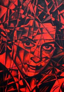 Portrait, Blut, Geschichte, Acrylmalerei