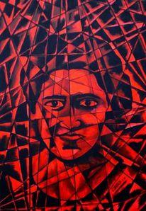 Acrylmalerei, Portrait, Blut, Geschichte
