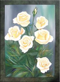 Rose, Malerei