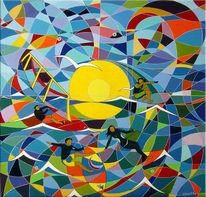 Malerei, Abstrakt, Welle