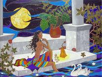 Acrylmalerei, Nacht, Tausendundeine, Malerei