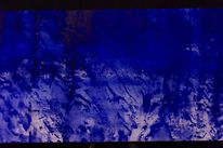 Blau abstrakt, Malerei, Abstrakt