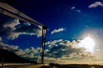 Sonne, Brücke, Himmel, Wolken