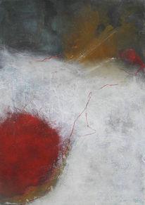 Rot, Braun, Weiß, Malerei