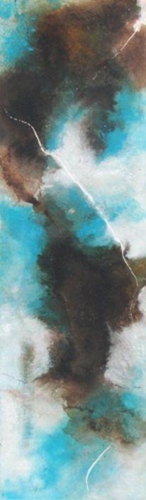 Braun, Türkis, Hellblau, Weiß
