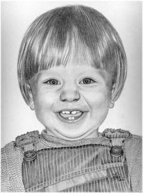 Haare zeichnen, Kind, Bleistiftportret, Junge