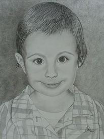 Portrait, Kohlezeichnung, Zeichnungen