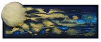 Tief, Weit, Blau, Malerei