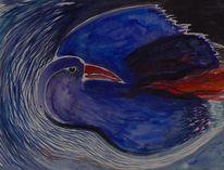 Schwarz, Feuer, Feuervogel, Blau