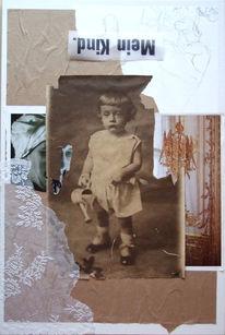 Collage, Grafik, Menschen, Kind