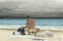 Gewitter, Strand, Unwetter, Meer