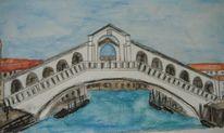 Brücke, Meer, Boot, Venedig
