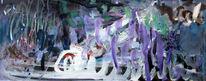 Unwetter, Eis, Landschaft, Malerei abstrakt