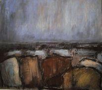 Pastellmalerei, Landschaft, Abstrakt, Malerei