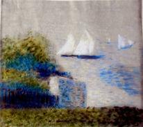 Boot, Meer, Sommer, Malerei