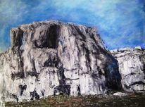 Felsen, Pastellmalerei, Malerei