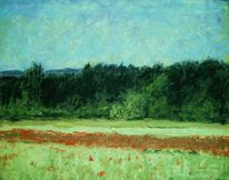 Mohnfeld, Malerei