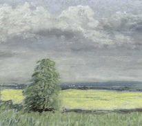 Sommer, Feld, Malerei