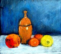 Früchte, Stillleben, Skizze, Malerei